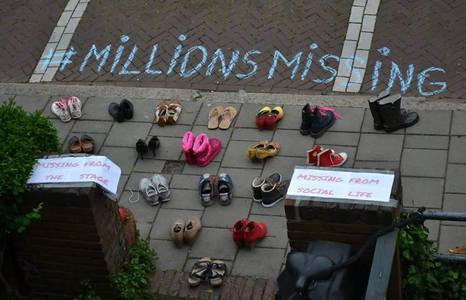 Shoes at millions missing
