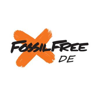 Fossil free deutschland logo white background
