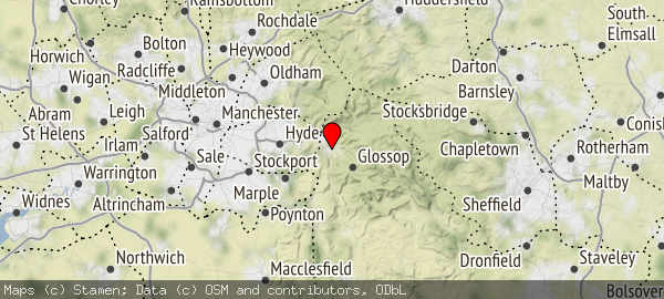 Glossop Derbyshire.