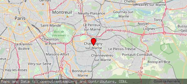 Mairie de Champigny, Rue Louis Talamoni, Champigny-sur-Marne