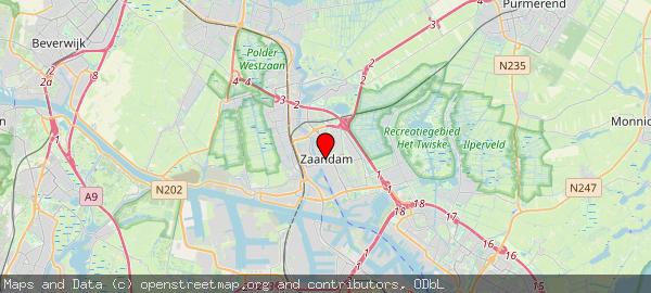 Postbus 2000, Zaandam, Gemeente Zaanstad 1500 GA