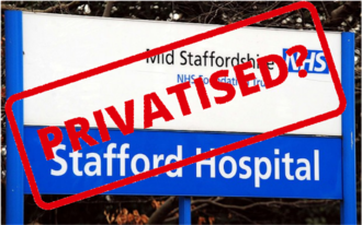STOP THE NHS SELL-OFF OF £1.2 BILLION CANCER CARE IN STAFFORDSHIRE