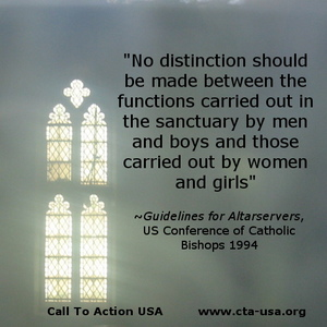 Girls Belong at the Altar! Support Altar girls in San Francisco parish