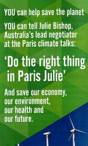 'Make us proud in Paris, Julie': Sign our nation up for a safe climate at the UN 2015 climate talks