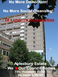 Stop Demolition Of The Aylesbury Estate (2700 Council Homes) NOW!