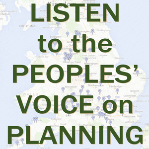 Listen to the Peoples Voice on Planning