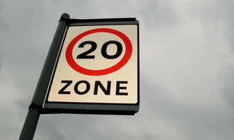 20mph speed limits and traffic control on Weston Estate
