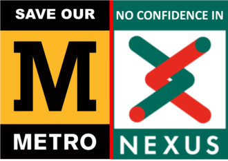 Save Our Metro: Vote of No Confidence in Nexus, DB Regio and NECA
