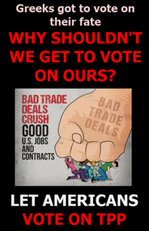Let americans vote on tpp