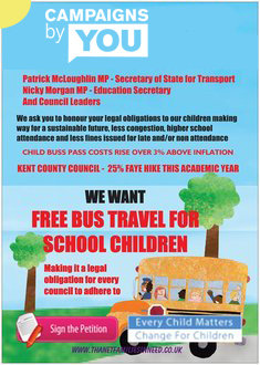FREE PUBLIC TRANSPORT FOR UNDER 16's NATIONWIDE