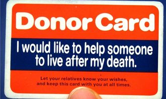 Change the Organ Donation service to an opt out service not an opt in service