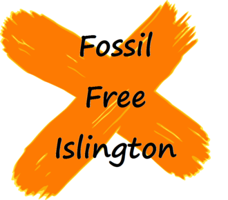 Fossil free islington white background