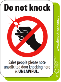 Stop the Knock! Pass the Do Not Knock Register Bill Now