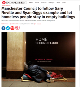 S'oton Council : Please use empty buildings to ensure no one sleeps rough this winter