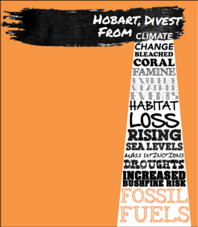 Hobart City Council Divestment. The petition is closed. 1500 signatures total on paper, plus online!