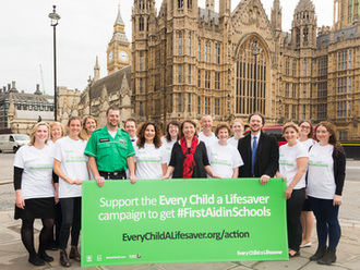 Get first aid taught in schools!  Every Child a Lifesaver - take action!