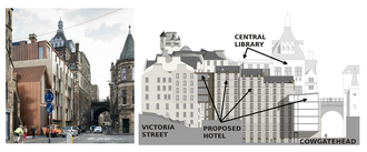 Proposed hotel   cowgatehead   with cross section