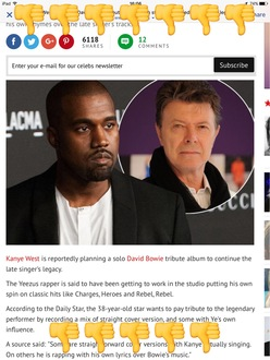 Stop Kanye West recording covers of David Bowie's music