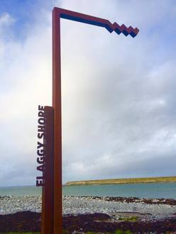 Failte Ireland/WAW take away the hideous sign at the Flaggy Shore Beach, Co. Clare NOW