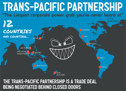 Say no to corporate power grabs - reject the Trans-Pacific Partnership