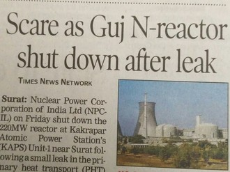 Call for immediate investigation of Kakrapar nuclear accident