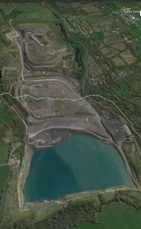 Aerial photo of  the opencast site march 2016