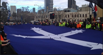 Eureka flag cut