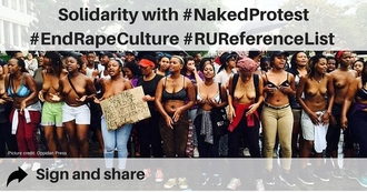 Solidarity with students demanding #EndRapeCulture
