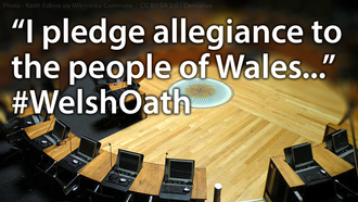 An oath of allegiance to the people of Wales - NOT the Queen