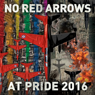 No Red Arrows over London Pride