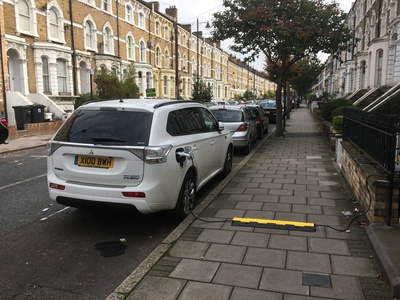 Electric Car Public Street Charging Points