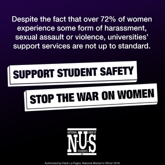 SUPPORT STUDENT SAFETY, STOP THE WAR ON WOMEN