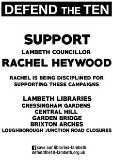 Support Rachel Heywood and lift the suspension NOW!
