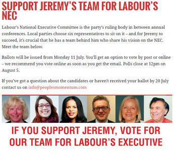 We request a change in the cut off date for members who join labour to vote in NEC elections