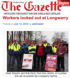 Respect Longwarry Dairy workers
