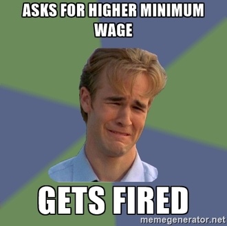 Introduce a fine for minimum wage abuse under a threshold