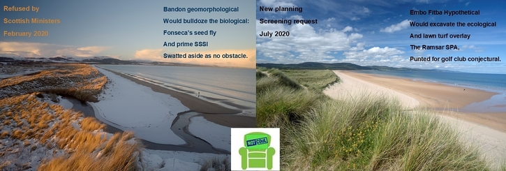 Save Coul Links protected nature (Loch Fleet Ramsar SSSI & SPA) from golf development vandalism