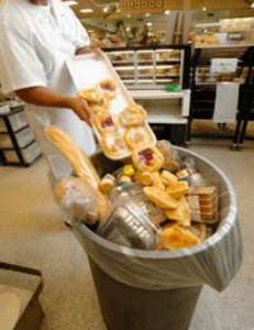Donate all Supermarket past 'sell by date food' waste to food banks