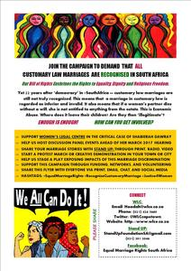 Respect Customary Marriages In South Africa