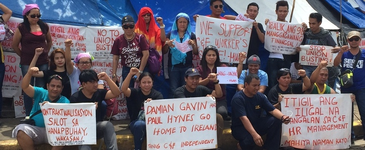 Reinstate the 98 sacked workers in the Philippines by C&F Tooling
