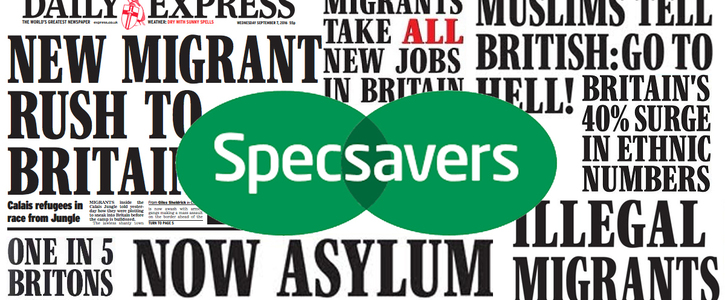 Specsavers - Stop Advertising in the Daily Express