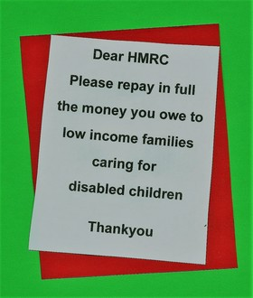 Repay in full the money you owe to low income families caring for a disabled child.