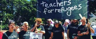 Stand up for teachers who stand up for refugees