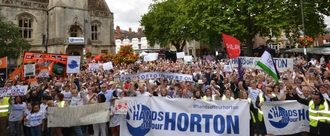 Reverse the decision to undertake a split consultation concerning the Horton General Hospital.