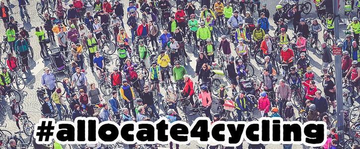 Allocate 10% of the National Transport Budget to Cycling