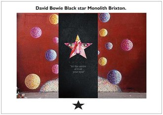A David Bowie Blackstar Monolith Style Monument for Turnstall Road  Brixton