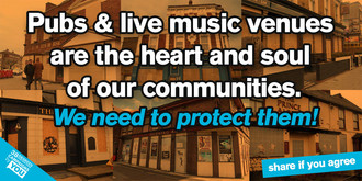 Save our pubs and live music venues