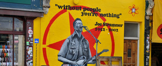 Save the Joe Strummer Mural ladbroke Grove london