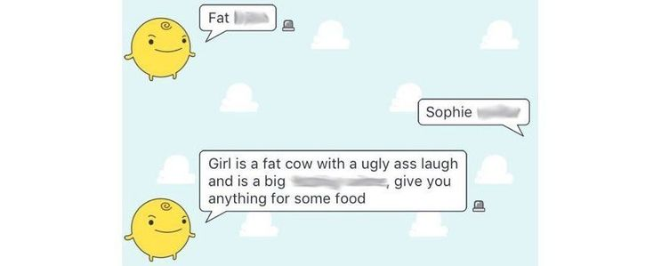 Stop bullying app SimSimi