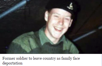 Keep soldiers family together in the United Kingdom